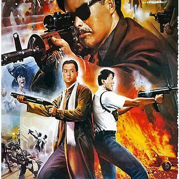 The killer - Chow Yun Fat - John Woo - Danny Lee - Hong Kong Action Poster Style by 108dragons