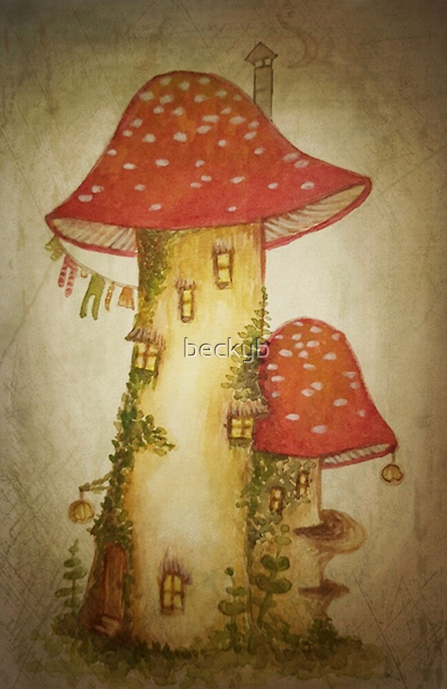 Just Another Toadstool House  by Rebecca Barkley