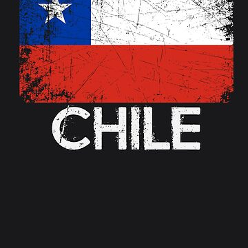 Chilean Flag Design | Vintage Made In Chile Gift by melsens