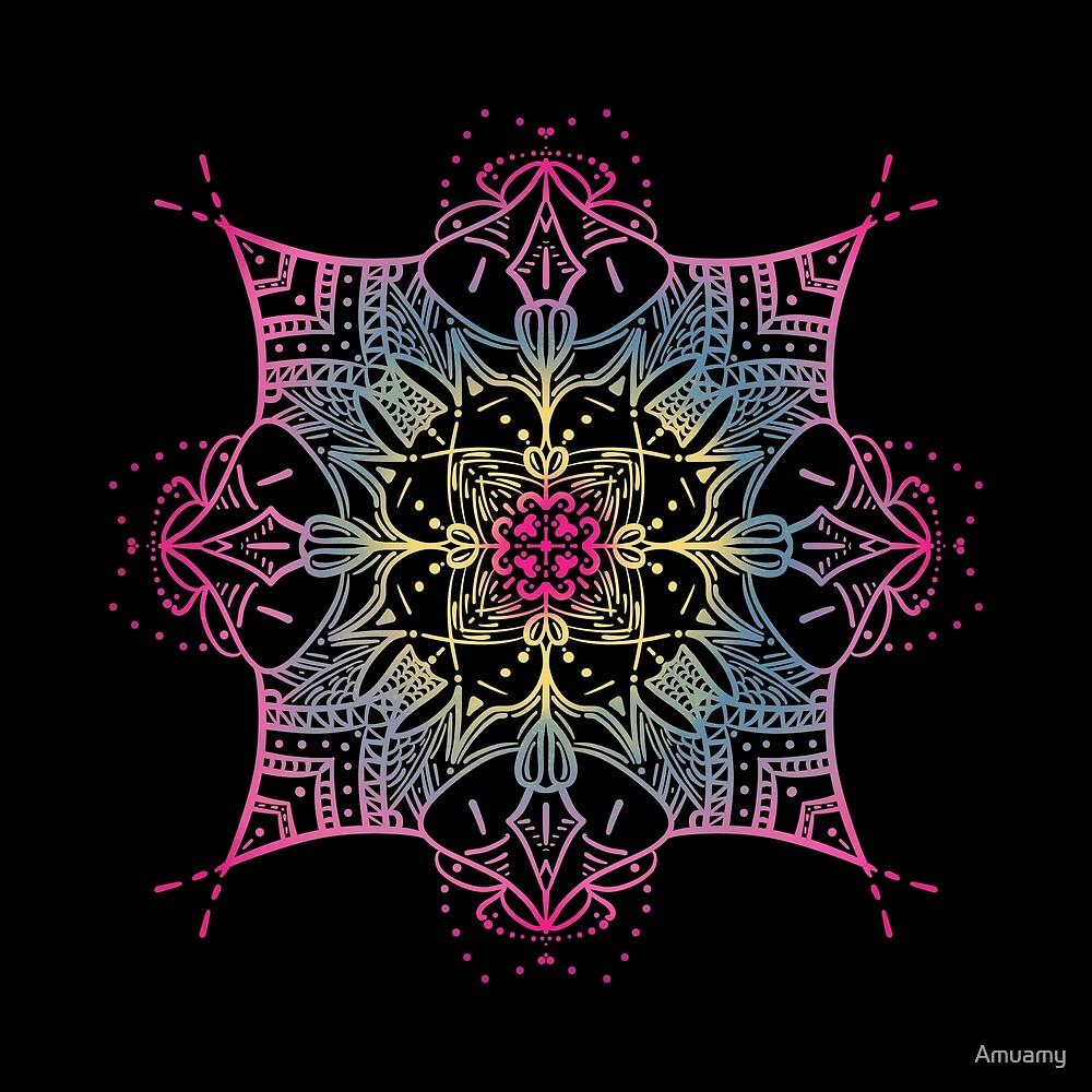 Kawaii Colourful Mandala by Amuamy