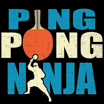 Retro Ping Pong Ninja Design by Soulfire86