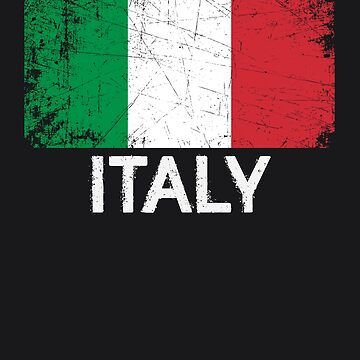 Italian Flag Design | Vintage Made In Italy Gift by melsens