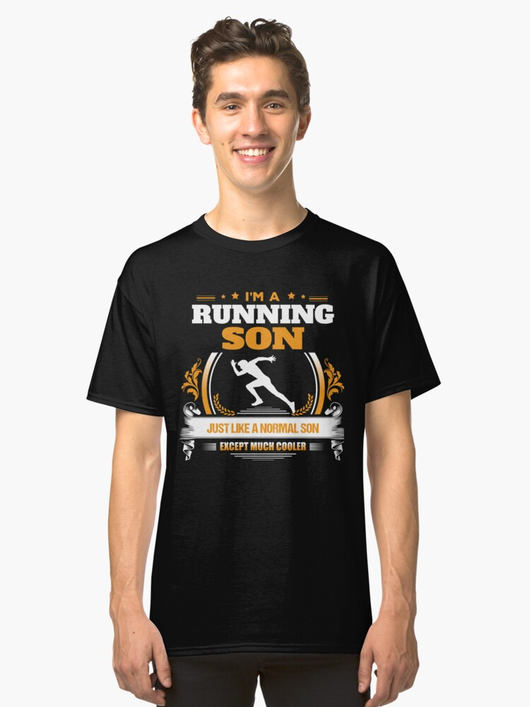 Running Son Christmas Gift or Birthday Present Classic T-Shirt Front
