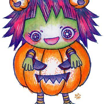 Kawaii Pumpkin Halloween Girl by AyaMasuda