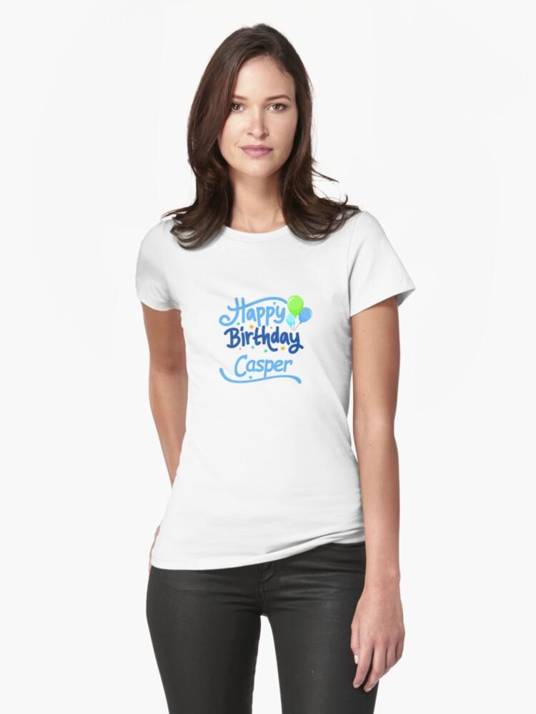 Happy Birthday Casper Womens T-Shirt Front