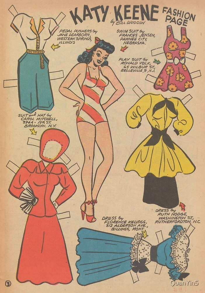 Katy Keene Comics, Paper Dolls, USA America by QuanYin5