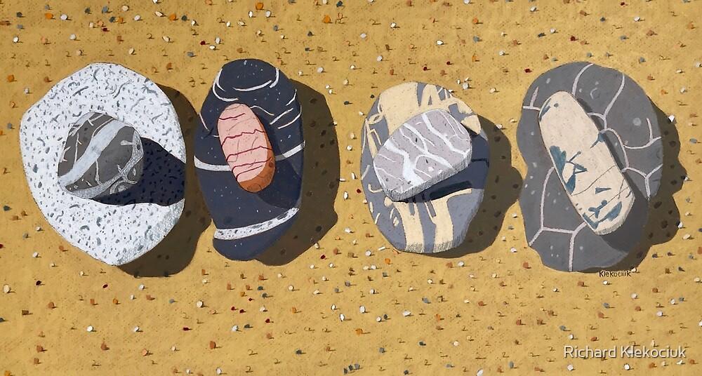 Beach Stones, Port Macquarie by Richard Klekociuk