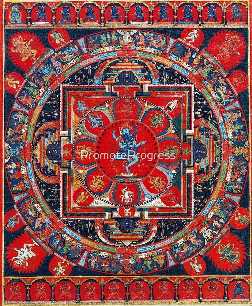 Hevajra Mandala (Tibetan Buddhism) by PromoteProgress