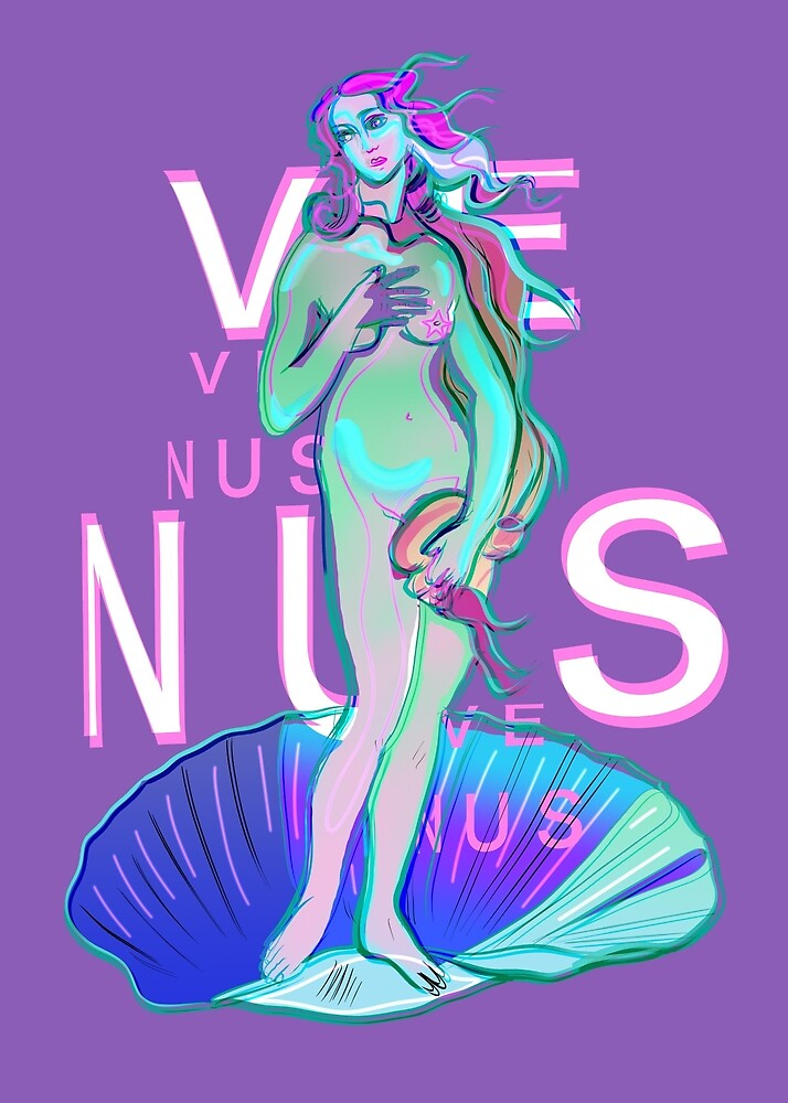 Vaporwave Venus with text by Neo-shop