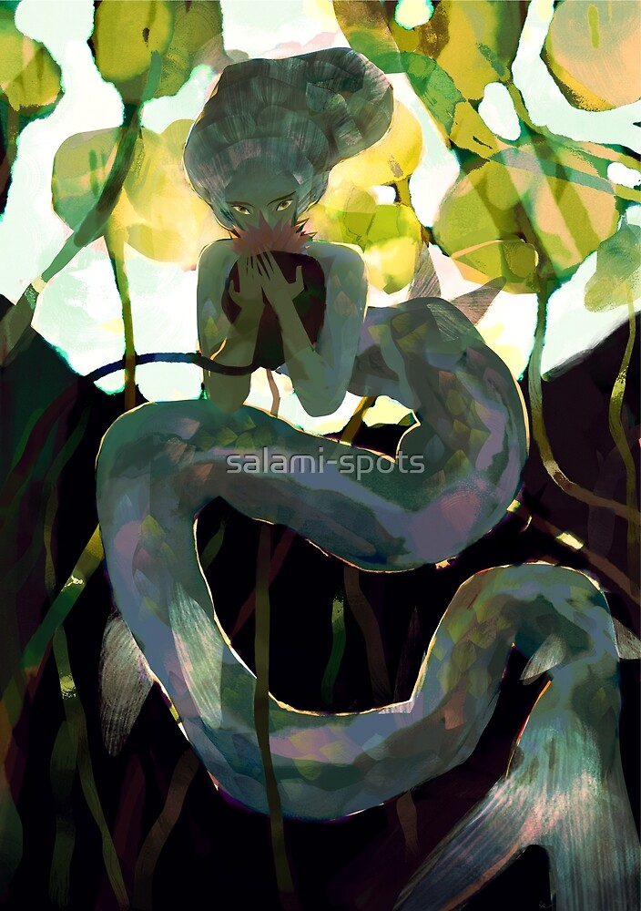 long tail mermaid by salami-spots