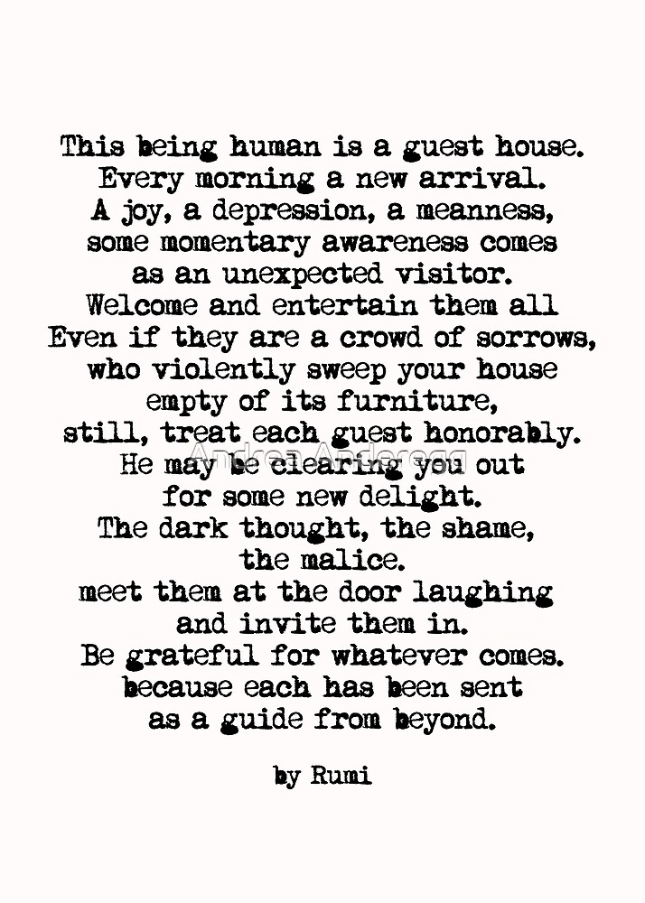 The Guest House 2 #poem #inspirational by andreaanderegg