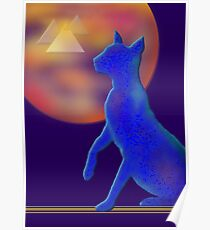 'Bast'  Cat Variations #1, Egyptian Poster