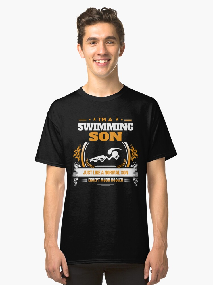 Swimming Son Christmas Gift or Birthday Present Classic T-Shirt Front