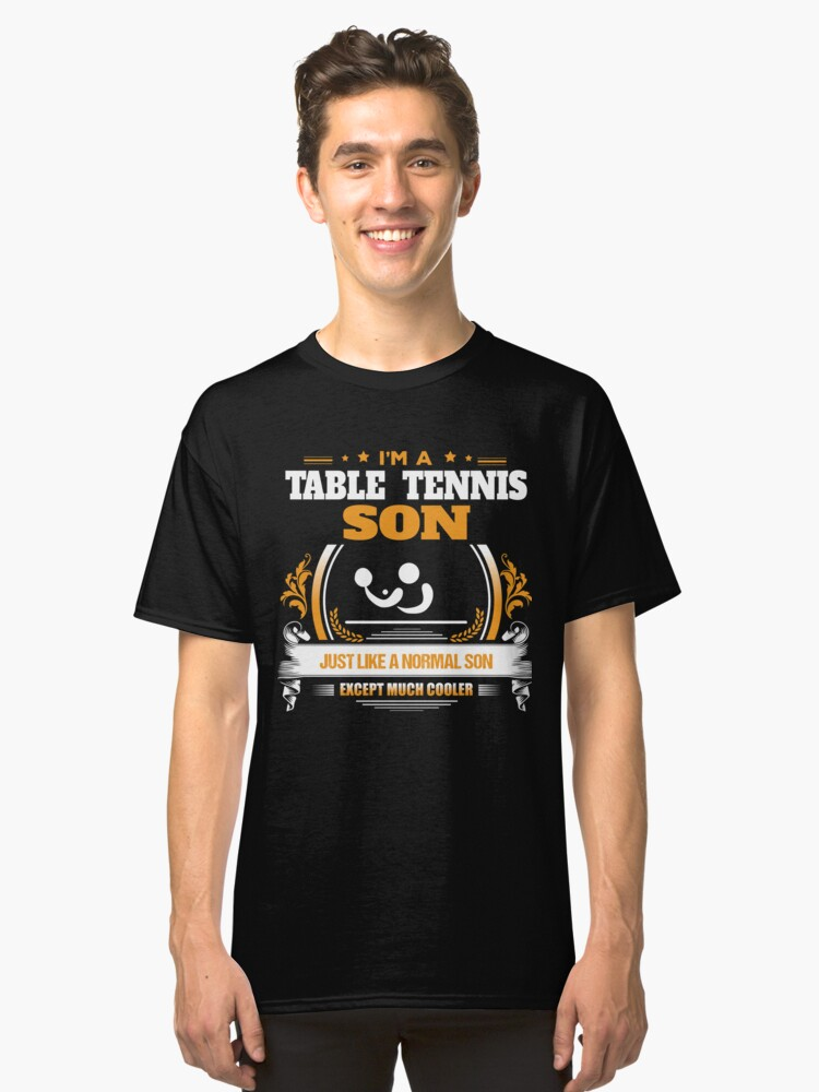 Table Tennis Son Christmas Gift or Birthday Present Classic T-Shirt Front