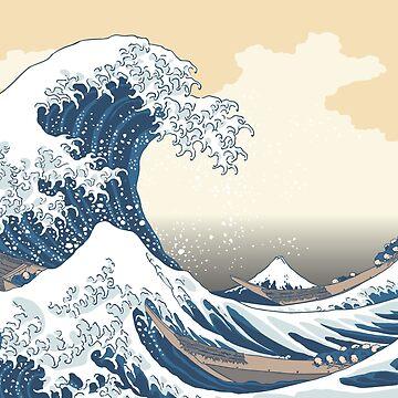 The Great Wave off Kanagawa by CaloyAurellano