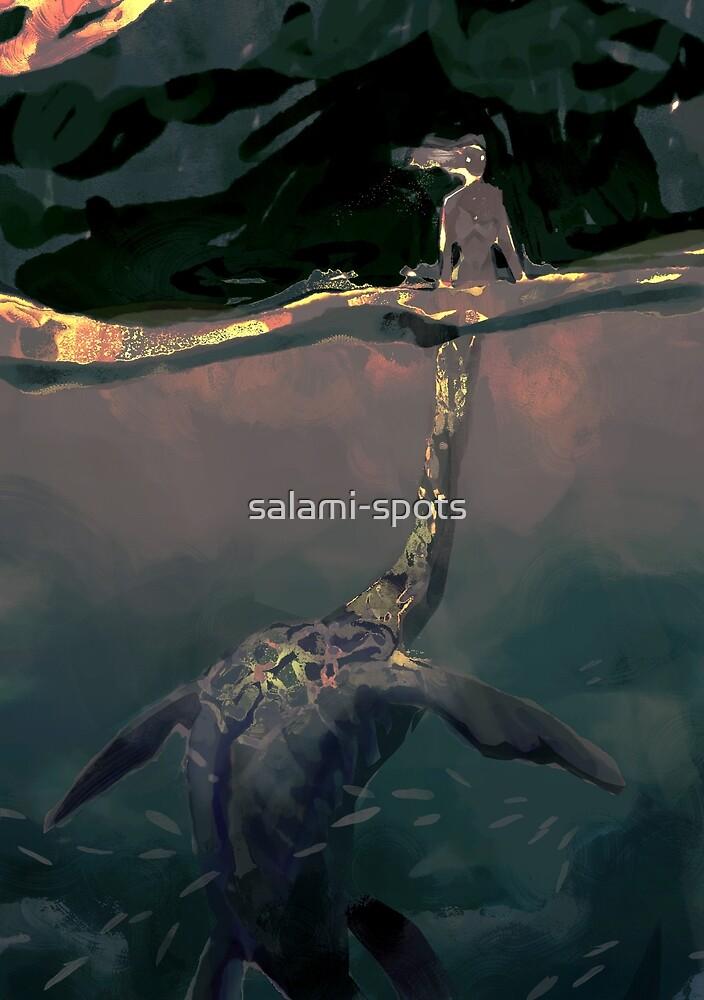 plesiosaur mermaid by salami-spots