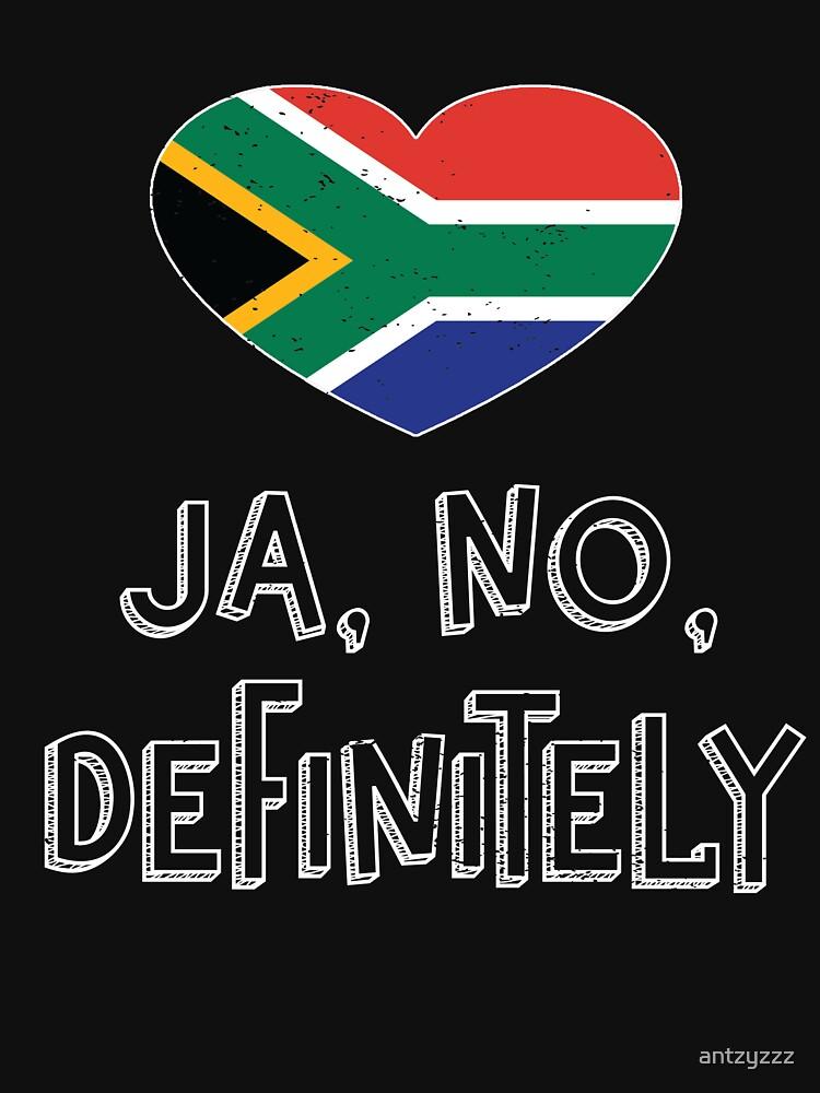 South African Saffa Funny Saying Ja No Definitely T Shirt by antzyzzz