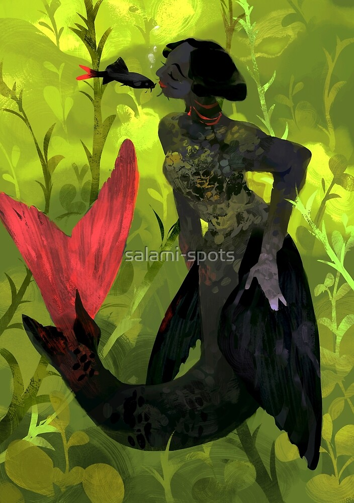 red tail shark mermaid by salami-spots