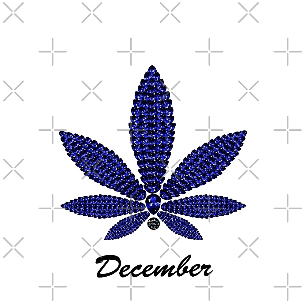 Birthstoned Leaf of Month, December Tanzanite by WetPaint420