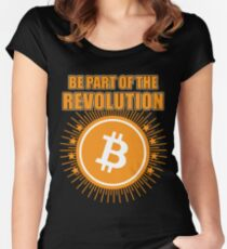 BITCOIN - Be Part Of The Revolution Women's Fitted Scoop T-Shirt