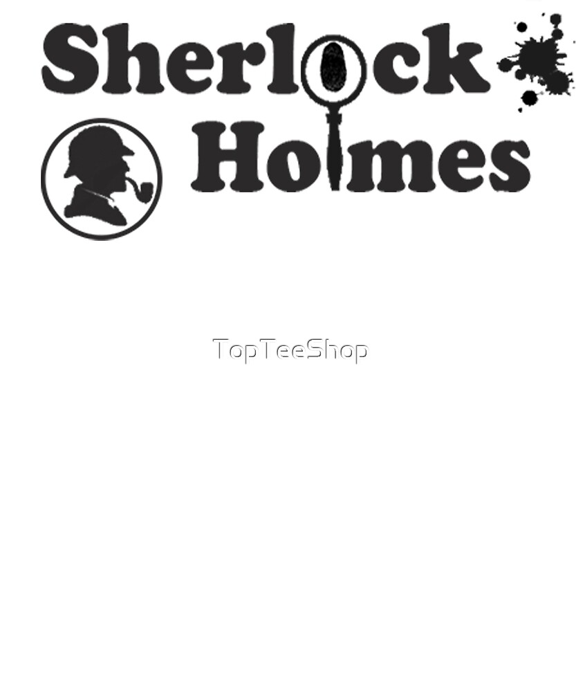 Sherlock Holmes T-Shirt 221B Baker Street British Detective by TopTeeShop