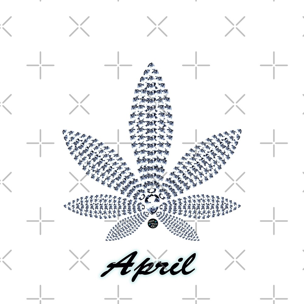 Birthstoned Leaf of Month, April Diamond by WetPaint420