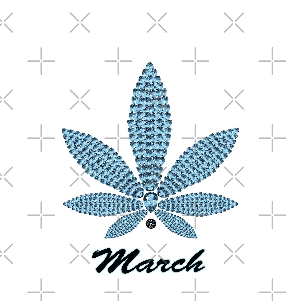 Birthstoned Leaf of Month, March Aquamarine by WetPaint420