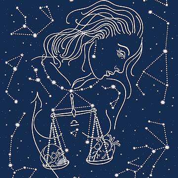 Libra zodiac sign by CatyArte