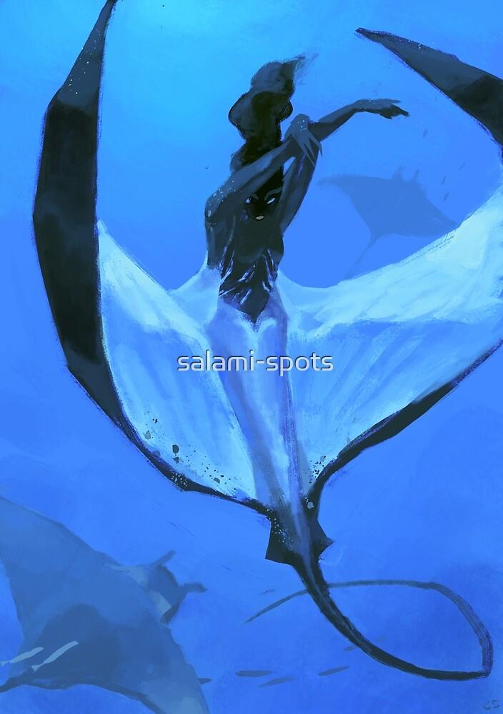 manta ray mermaid by salami-spots