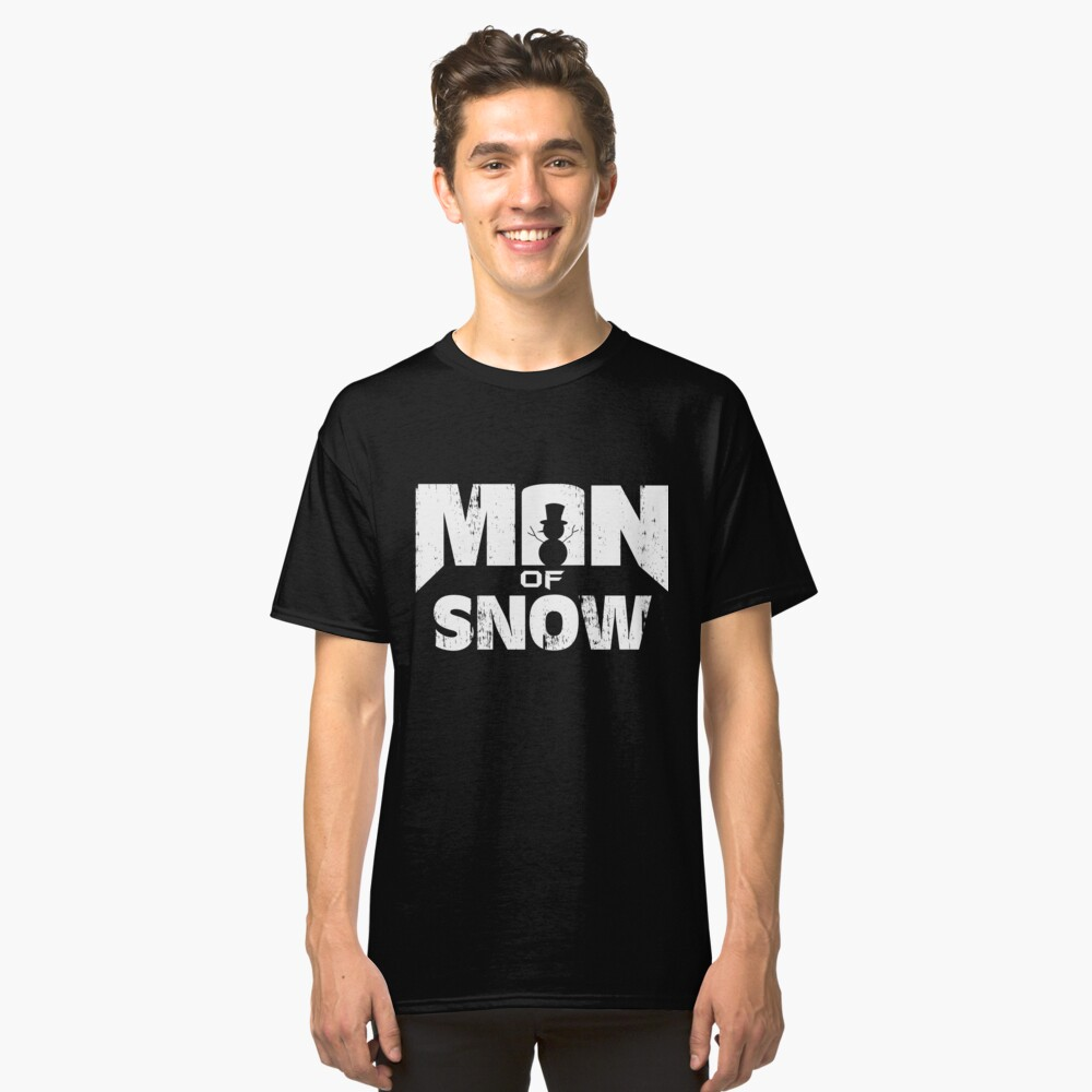 Man from snow snowman kids sweater Classic T-Shirt Front