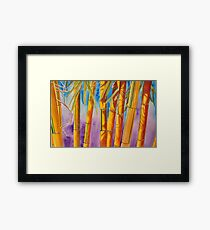 Yellow bamboo painting Framed Print