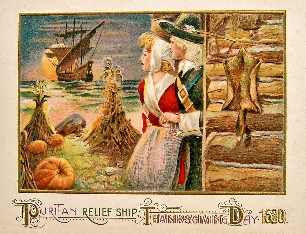 Puritan relief ship, Thanksgiving day by AmorOmniaVincit