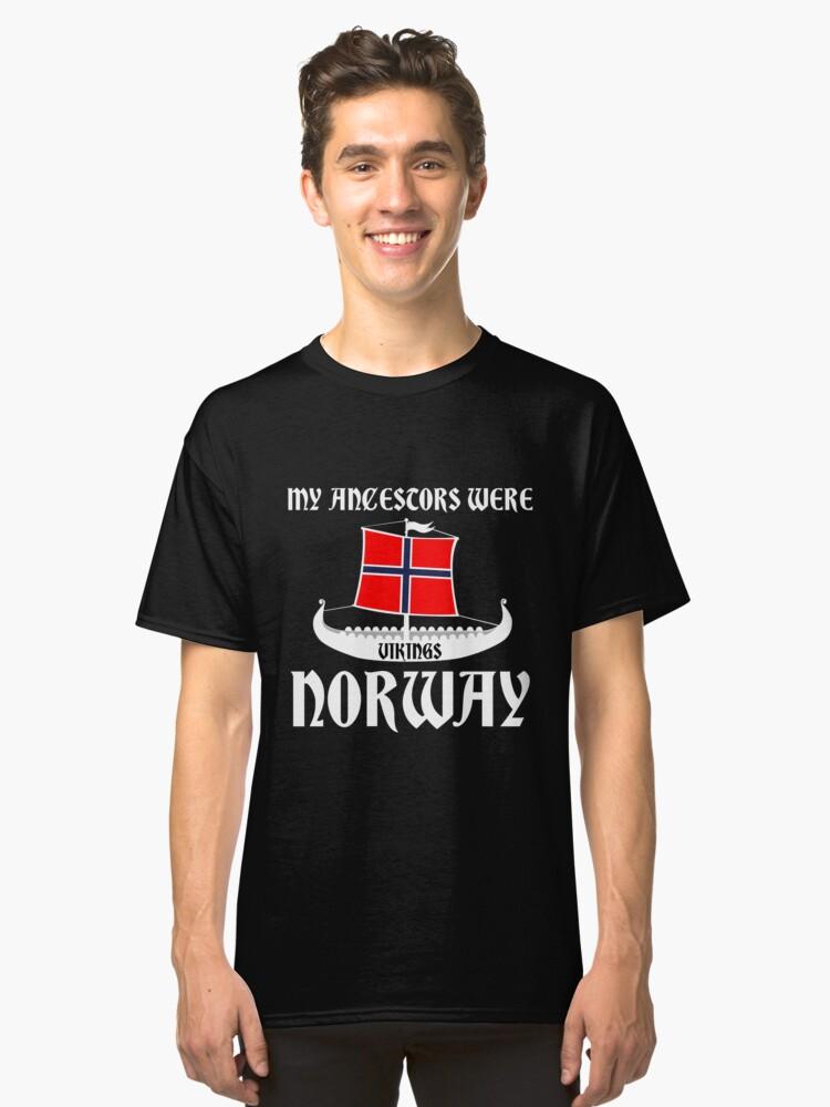 My Ancestors Were Vikings Norway White - Gift Idea Classic T-Shirt Front