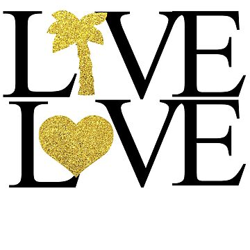 LIVE LOVE TEE by VintageEmpire