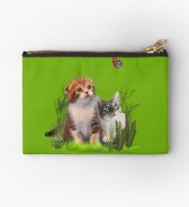 Kittens and a Butterfly. Studio Pouch