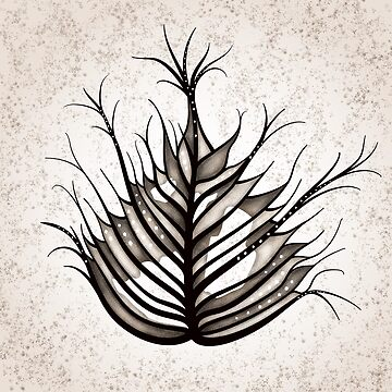 Hairy Leaf Abstract Art In Sepia by azzza