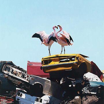 Flamingo - Josh Keyes by sojustfuckme