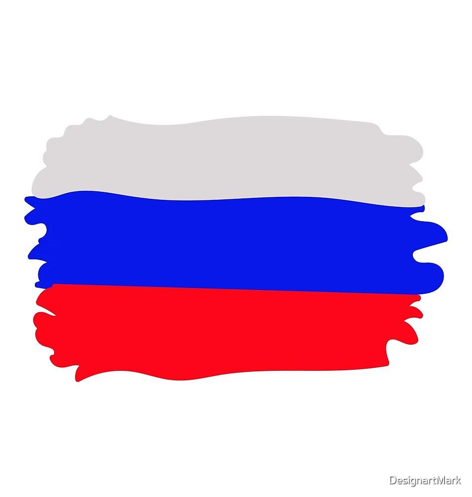 Russia flag by DesignartMark