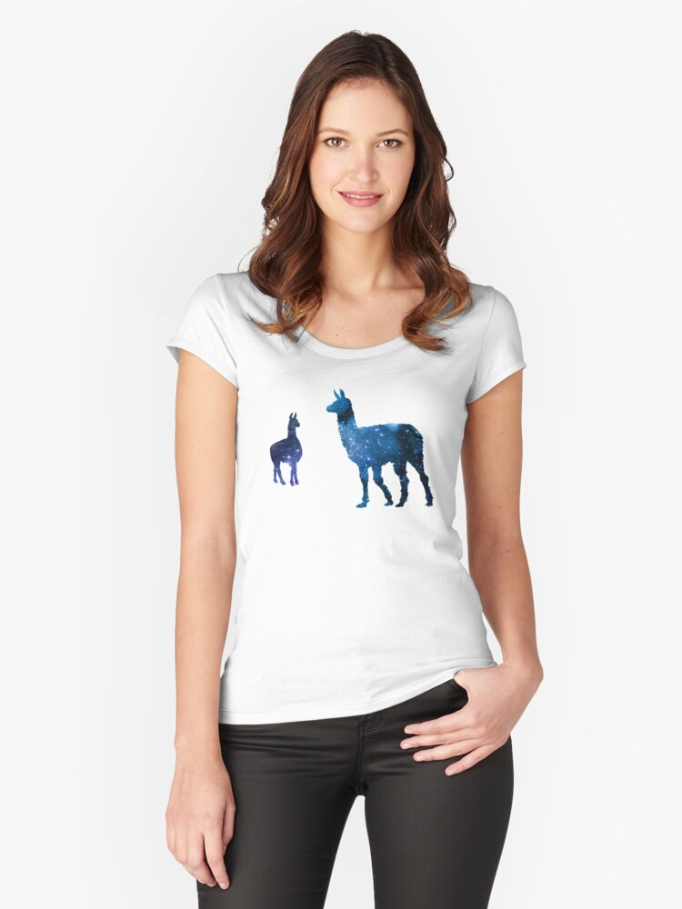 Llamas Women's Fitted Scoop T-Shirt Front