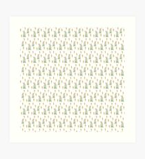 Rabbits and carrots Art Print