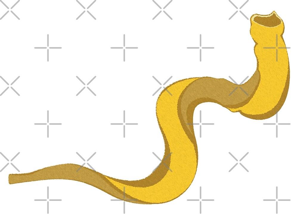 Jewish shofar yellow gold by AnnArtshock