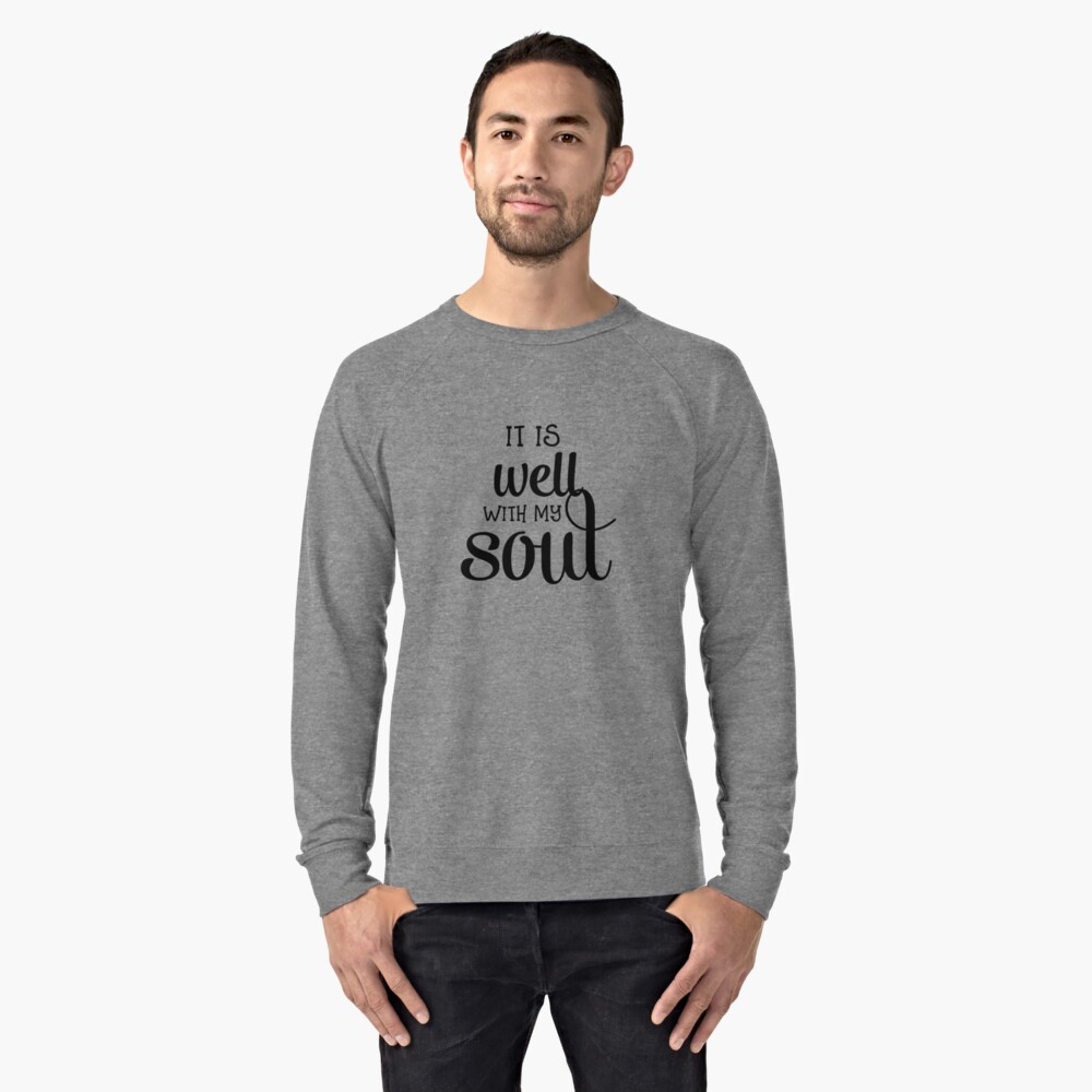 Christian Quote  Lightweight Sweatshirt Front