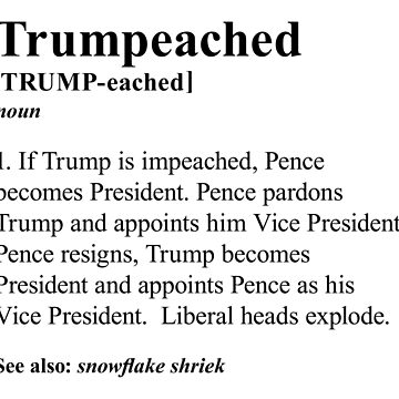 Trumpeached [Black on White] by boxsmash