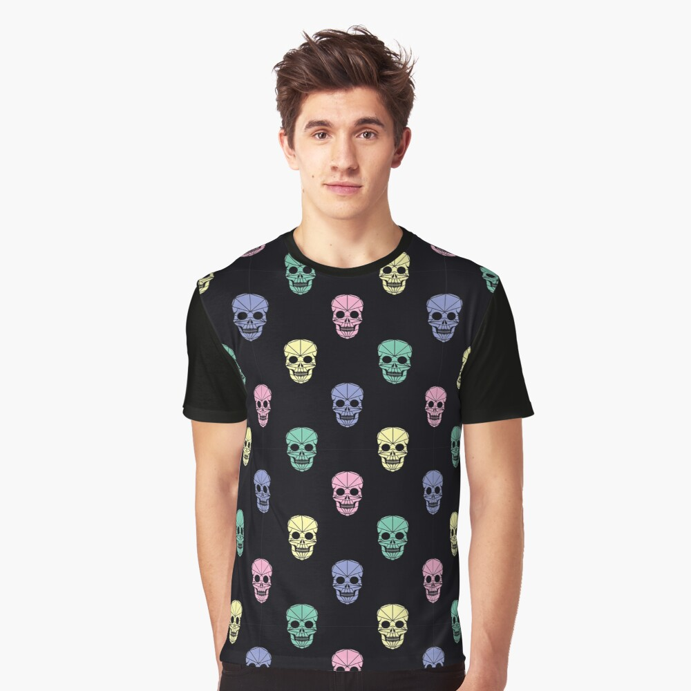 The pattern of Day of the Dead, a traditional holiday in Mexico Graphic T-Shirt Front