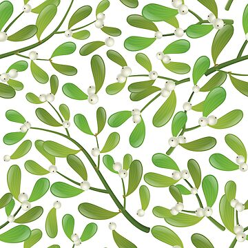 Mistletoe natural pattern for Christmas by creaschon