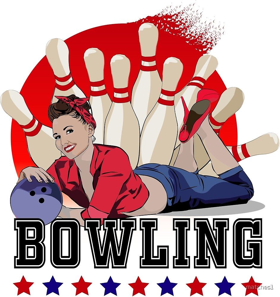 Bowling pinup girl by matches1