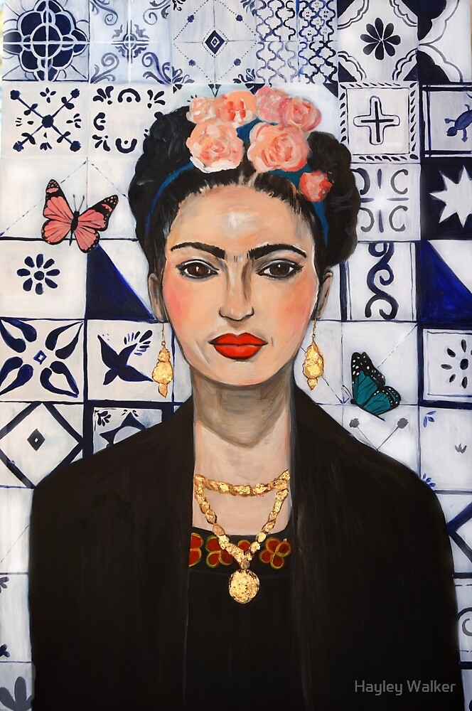Frida and the Butterflies / Frida Kahlo painting by Hayley Walker