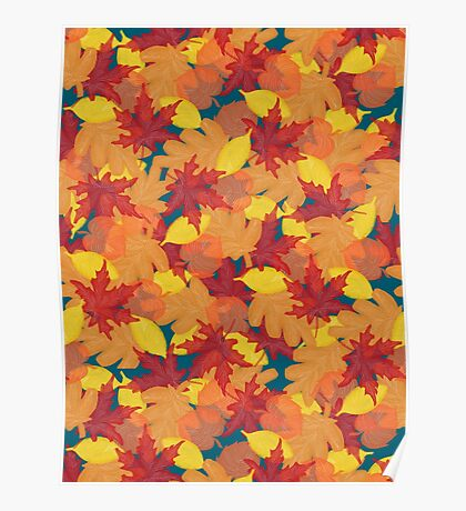 Bright Fall #redbubble #fall Poster