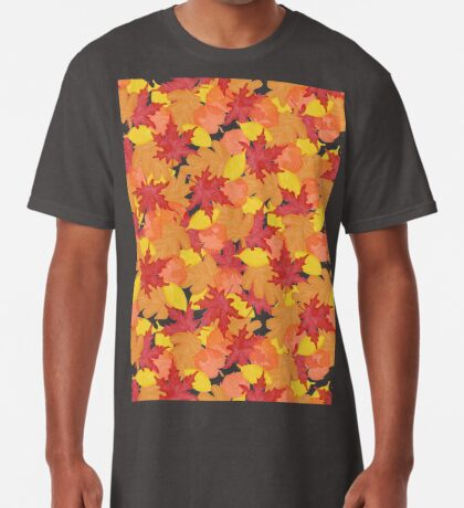 Bright Fall #redbubble #fall Long T-Shirt
