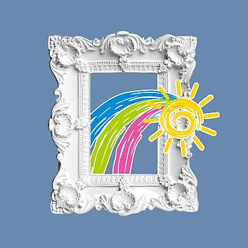 Art Frame Rainbow Sun Artisatic Gift Gallery  by MDAM
